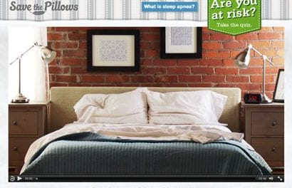 """Have You Seen the Adorable """"Save the Pillows"""" Ad Campaign for Sleep Apnea Awareness?"""