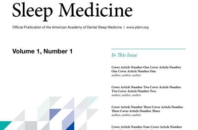 New Dental Sleep Medicine Journal Launches in 2014