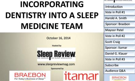 On-Demand Webcast: Incorporating Dentistry into a Sleep Medicine Team