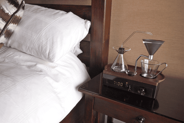 Start Your Morning Right With an Alarm Clock That Makes You Coffee