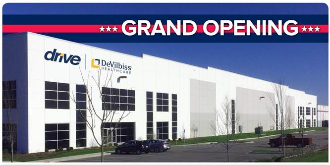 Drive DeVilbiss Expands Distribution With the Opening of New Facility