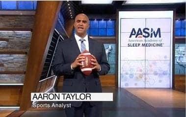 AASM and Super Bowl Champion Aaron Taylor Team Up to Tackle Sleep Apnea