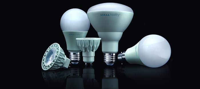 Soraa HEALTHY Blue-free LED Lamp Portfolio
