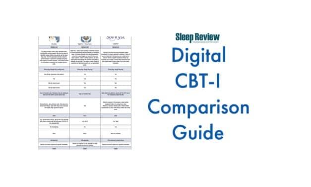 Digital Cognitive Behavioral Therapy for Insomnia Comparison Guide
