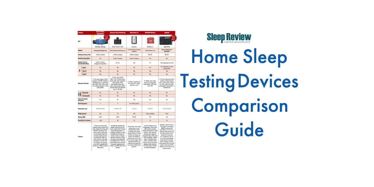 Home Sleep Test (HST) Devices Comparison Guide