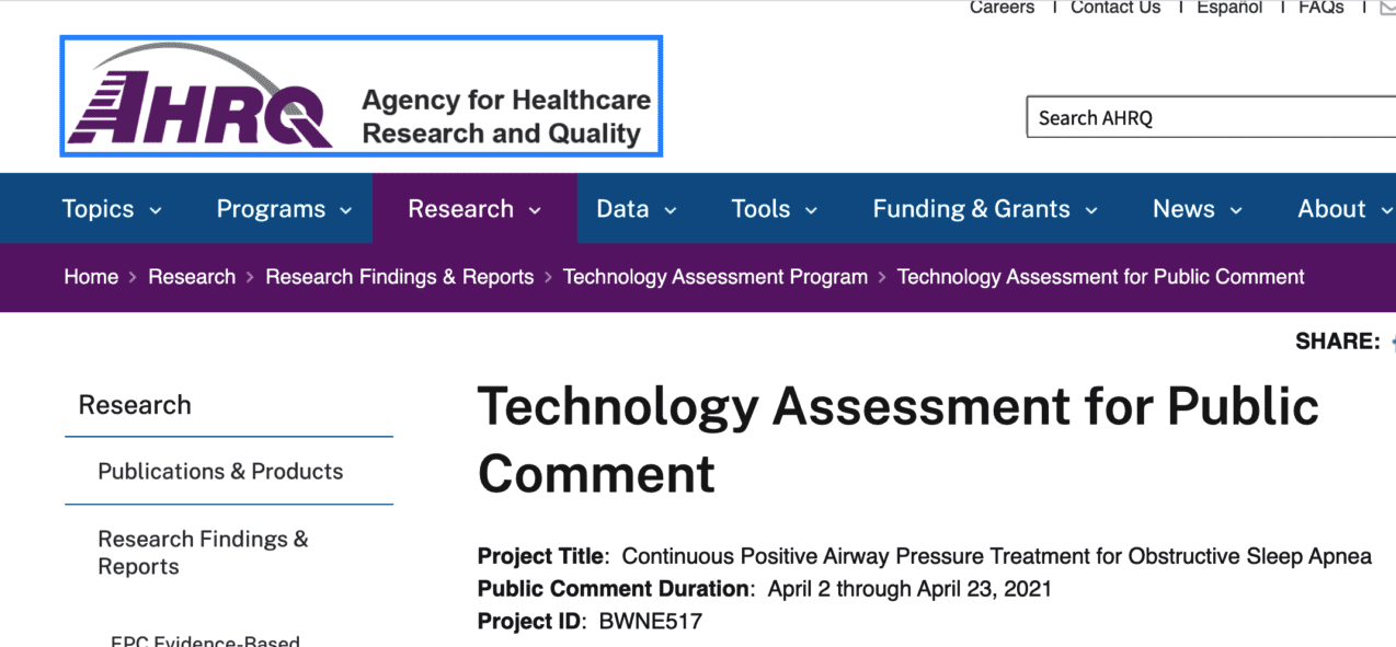 AHRQ: 'Evidence Mostly Does Not Support That CPAP Prescription Affects Long-Term, Clinically Important Outcomes'