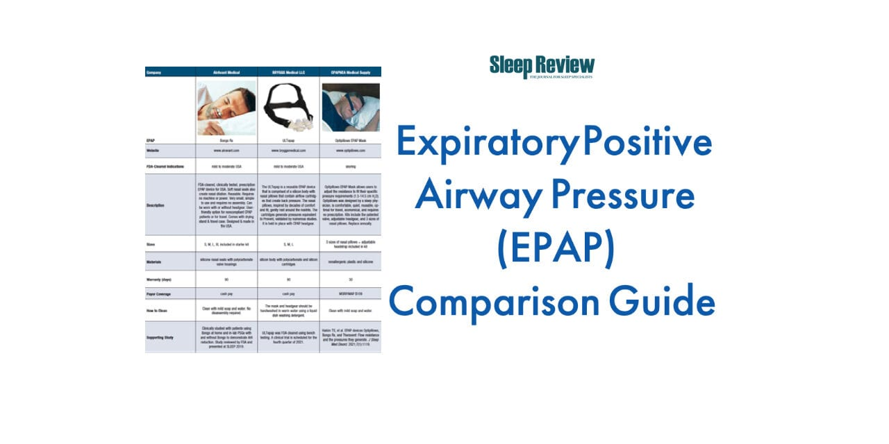 Expiratory Positive Airway Pressure (EPAP) Comparison Guide